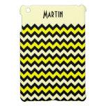 Modelo negro amarillo de la avispa de Chevron iPad Mini Funda