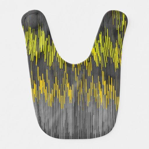 Modelo negro amarillo de neón de moda de Chevron Baberos Para Bebé
