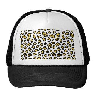 Modelo negro amarillo del estampado de animales de gorras