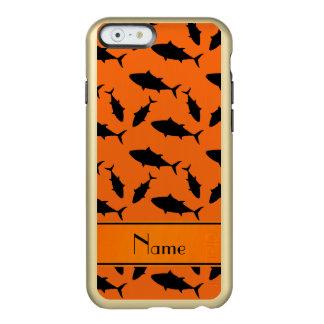 Modelo negro anaranjado conocido de encargo del funda para iPhone 6 plus incipio feather shine