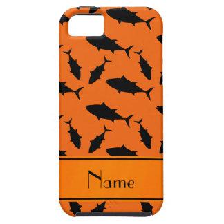 Modelo negro anaranjado conocido de encargo del iPhone 5 fundas
