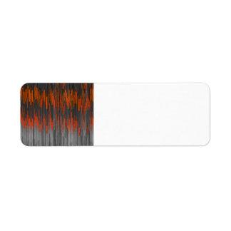 Modelo negro anaranjado de neón de moda de Chevron Etiqueta De Remitente