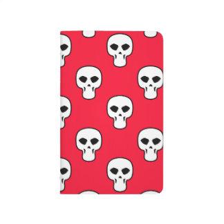Modelo negro, blanco, rojo de los cráneos cuadernos