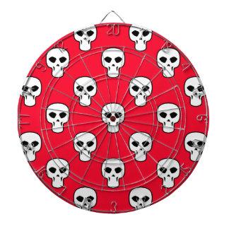 Modelo negro, blanco, rojo de los cráneos tablero de dardos