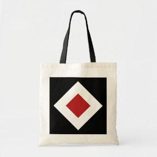 Modelo negro, blanco, rojo del diamante bolsa de mano