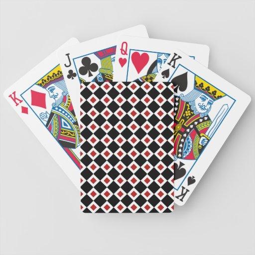 Modelo negro, blanco, rojo del diamante cartas de juego