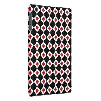 Modelo negro, blanco, rojo del diamante funda para iPad mini retina