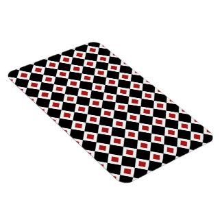 Modelo negro, blanco, rojo del diamante imanes flexibles