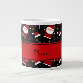 Modelo negro conocido de encargo del navidad del taza de café grande