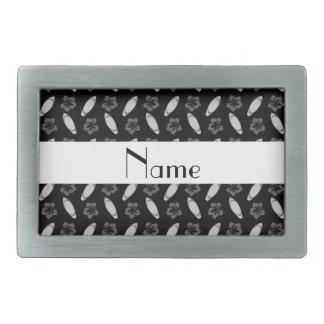 Modelo negro conocido personalizado de la tabla hebillas de cinturón rectangulares