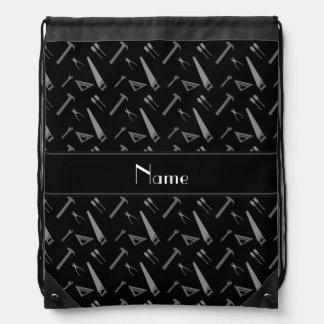 Modelo negro conocido personalizado de las mochilas