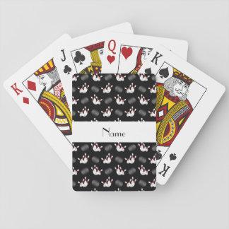 Modelo negro conocido personalizado de los bolos cartas de juego