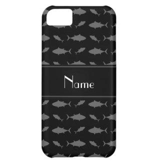 Modelo negro conocido personalizado del atún de funda para iPhone 5C