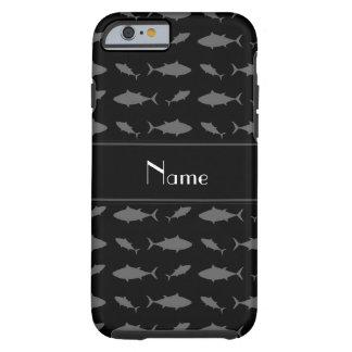 Modelo negro conocido personalizado del atún de funda para iPhone 6 tough