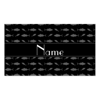 Modelo negro conocido personalizado del atún de tarjetas de visita