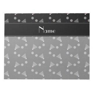 Modelo negro conocido personalizado del bádminton bloc de papel