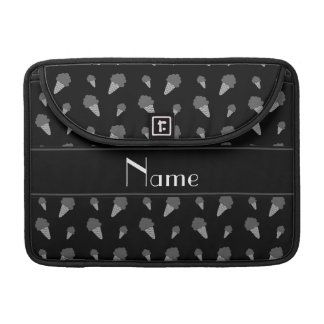 Modelo negro conocido personalizado del helado fundas para macbooks