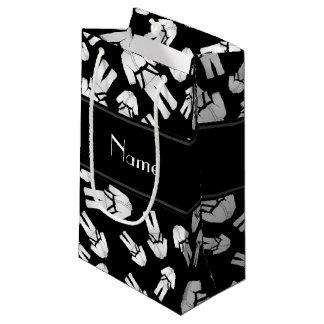 Modelo negro conocido personalizado del karate bolsa de regalo pequeña