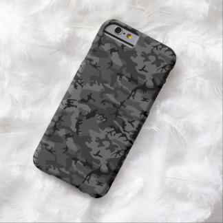 Modelo negro de Camo Funda De iPhone 6 Barely There