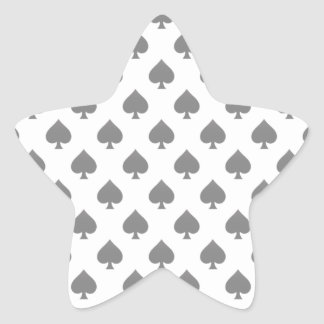 Modelo negro de la espada pegatina en forma de estrella