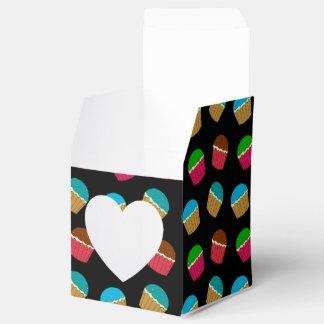 Modelo negro de la magdalena cajas para regalos de boda