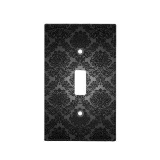 Modelo negro de la pendiente del damasco placas para interruptor