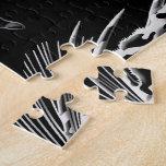 Modelo negro de la pesca con mosca de Camo Puzzle