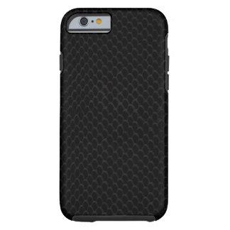 Modelo negro de la piel de serpiente funda para iPhone 6 tough