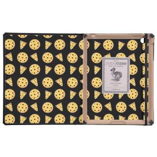 Modelo negro de la pizza iPad protectores