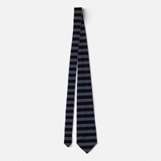 Modelo negro de la raya del gris azul corbata personalizada