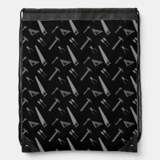 Modelo negro de las herramientas mochilas