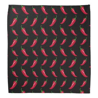 Modelo negro de las pimientas de chile bandana