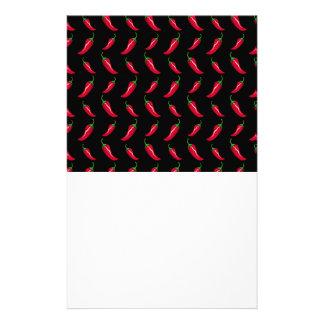 Modelo negro de las pimientas de chile papeleria de diseño