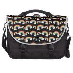 Modelo negro de los arco iris bolsas para portatil