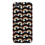 Modelo negro de los arco iris iPhone 5 protectores