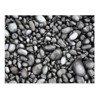 Modelo negro de los guijarros de la lava tarjetas postales