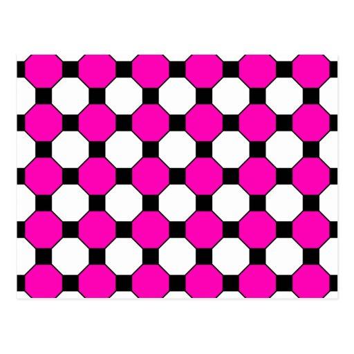 Modelo negro de los hexágonos de las casillas blan tarjeta postal