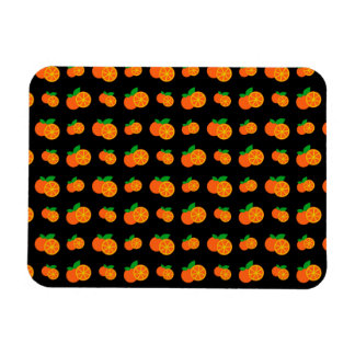 Modelo negro de los naranjas imanes de vinilo