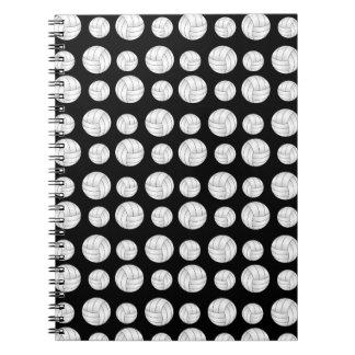 Modelo negro de los voleiboles cuaderno
