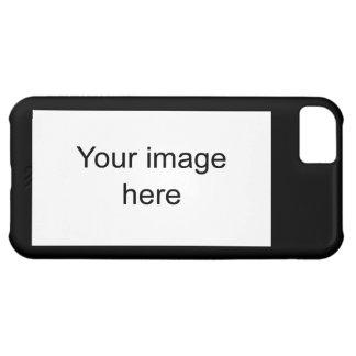 Modelo negro de plantilla en blanco fácil y rápida funda para iPhone 5C