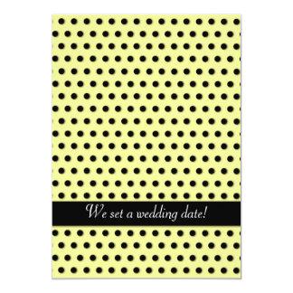 """Modelo negro de Polkadot de la tinta Invitación 5"""" X 7"""""""