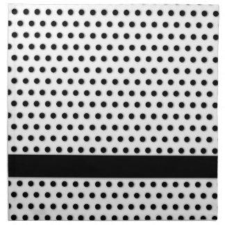 Modelo negro de Polkadot de la tinta Servilletas Imprimidas