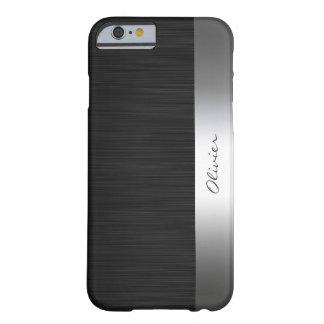 modelo negro del acero inoxidable con nombre funda barely there iPhone 6