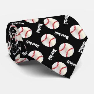 Modelo negro del béisbol de la diversión corbatas personalizadas