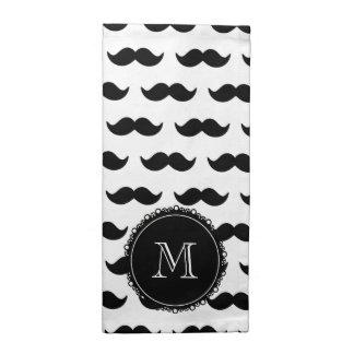 Modelo negro del bigote, bigote pattern.png negro servilleta