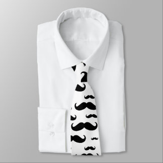 Modelo negro del bigote corbatas personalizadas