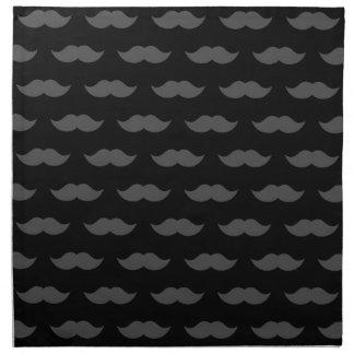 Modelo negro del bigote del bigote del manillar servilletas de papel