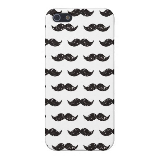 Modelo negro del bigote del brillo impreso iPhone 5 cárcasas