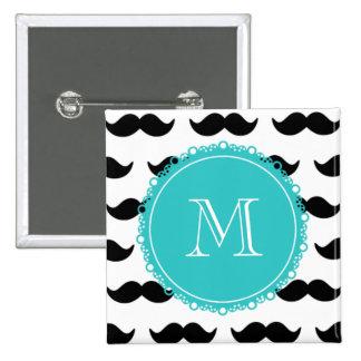 Modelo negro del bigote, monograma del trullo pin