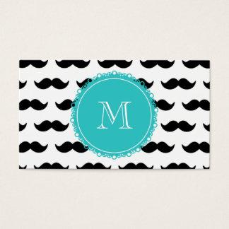 Modelo negro del bigote, monograma del trullo tarjeta de negocios